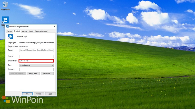 Cara Membuka Microsoft Edge dengan Keyboard Shortcut