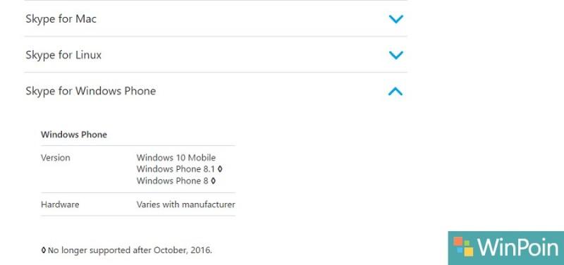 Skype Akan Menghentikan Dukungan Untuk Windows Phone 8/8.1