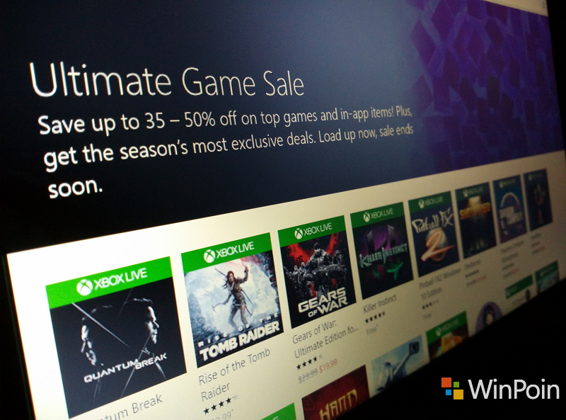 Cek Bursa Windows 10 Milikmu, Ada Promo Ultimate Game Sale!
