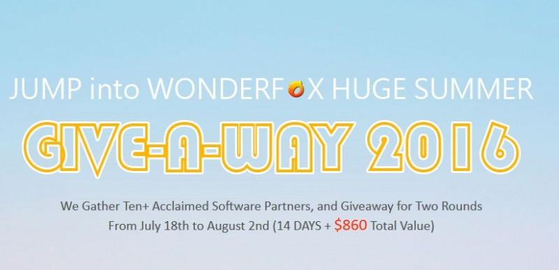 WonderFox Summer Giveaway, Dapatkan 10+ Software Senilai $860