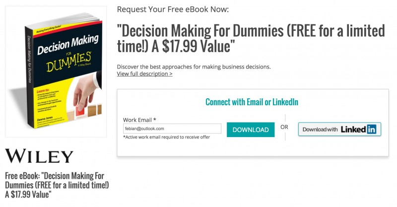 "Download Ebook ""Decision Making for Dummies"" Senilai 237 ribu, Gratis!"