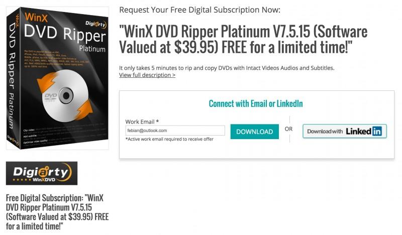 Download Software WinX DVD Ripper Platinum Senilai 525 Ribu, GRATIS!