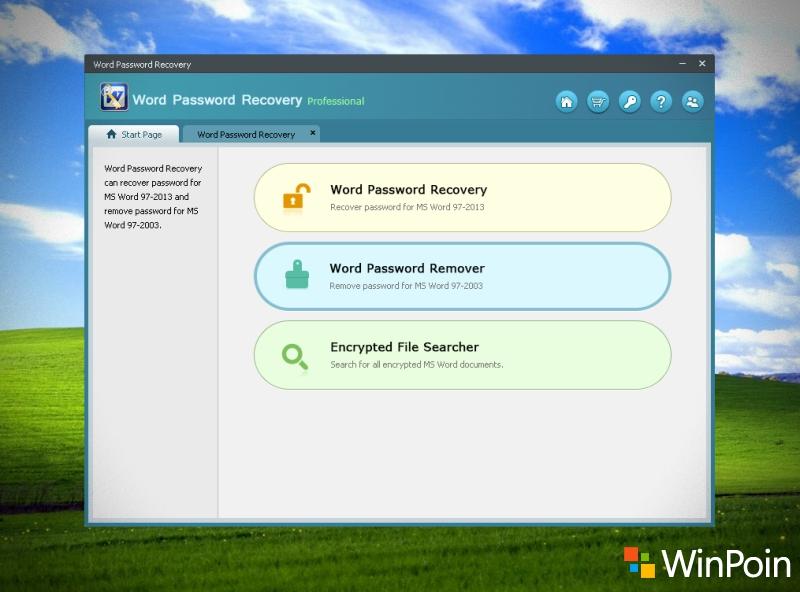 Kali ini yang akan saya coba adalah Word Password Recovery, sebuah software untuk membuka password dokumen MS word yang hilang atau kelupaan.