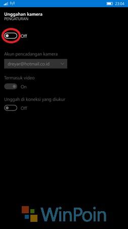 Menonaktifkan Upload Foto Otomatis ke OneDrive