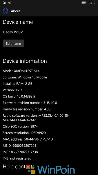 Review Windows 10 Mobile Insider Build 14393.5 di Xiaomi Mi4