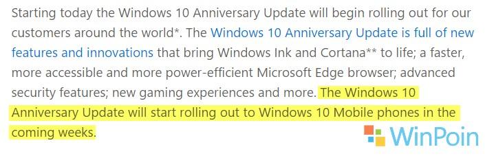 Windows 10 Mobile Anniversary Update akan Dirilis Beberapa Minggu ke Depan