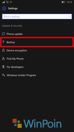 Cara Melakukan Backup di Windows 10 Mobile