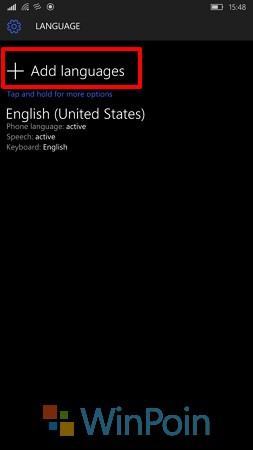 Cara Menambahkan Bahasa Lainnya di Windows 10 Mobile