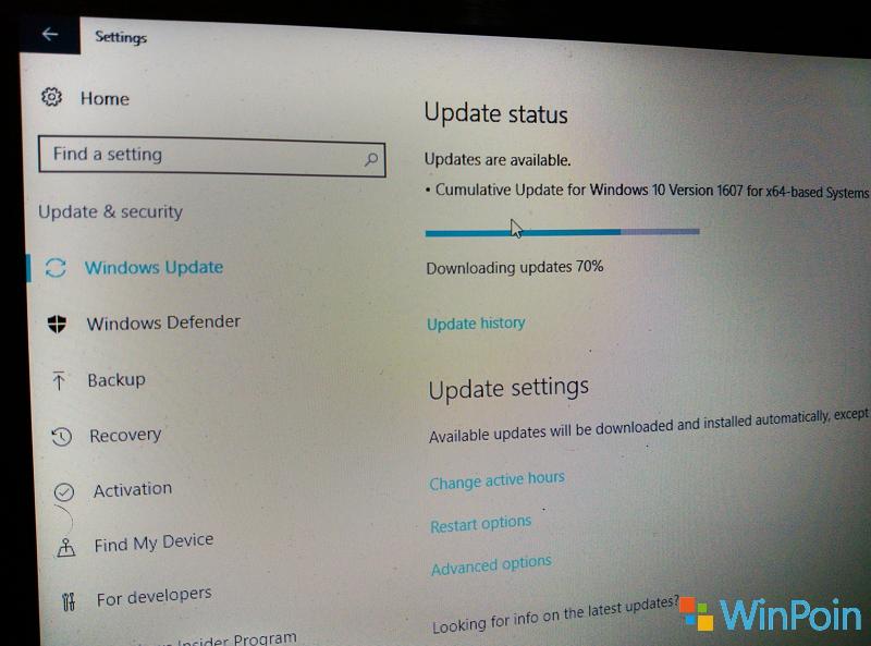 Windows 10 Anniversary Update Mendapatkan Update Kumulatif Pertamanya
