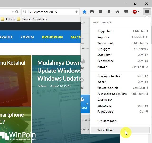 Cara Browsing di Mozilla Firefox tanpa Koneksi Internet (3)