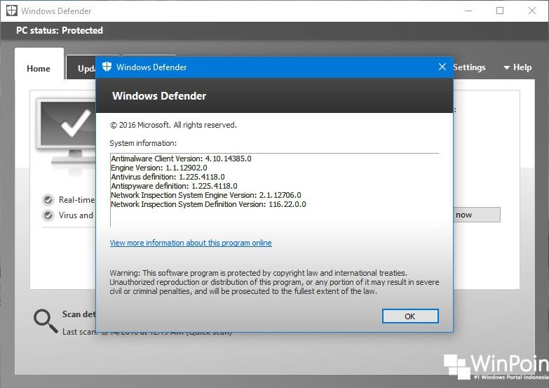 Cara Menemukan Versi Windows Defender di Windows 10 (3)