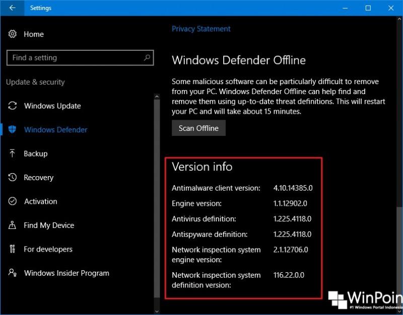 Cara Menemukan Versi Windows Defender di Windows 10 (4)