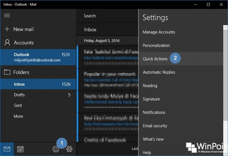 Cara Mengaktifkan Fitur Swipe pada Mail di Windows 10 (2)