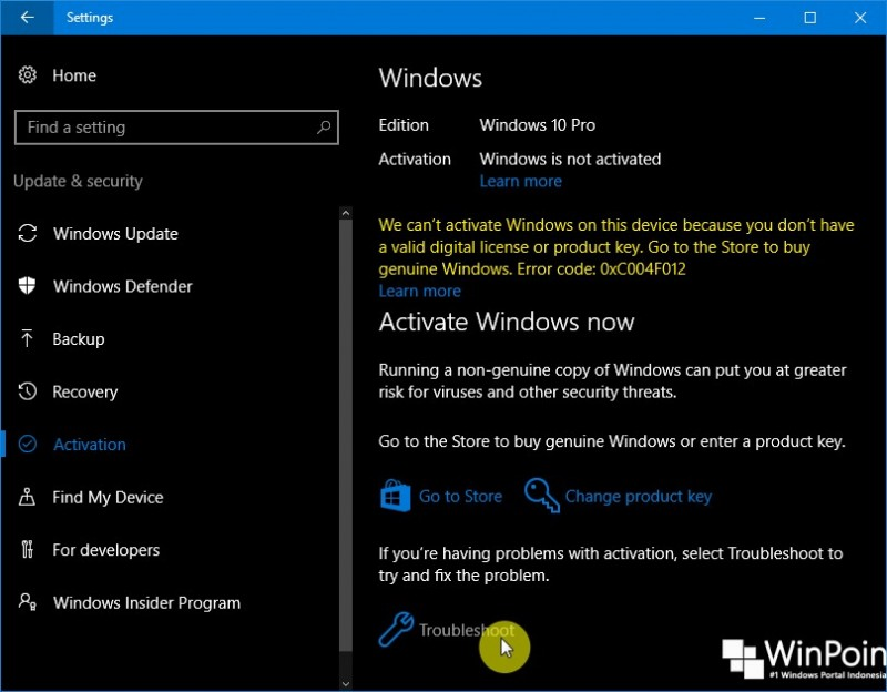 Cara Menggunakan Windows 10 Activation Troubleshooter (1)