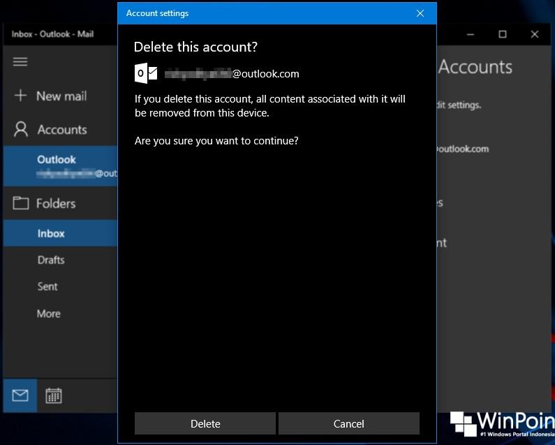 Cara Menghapus Akun Email dari Aplikasi Mail di Windows 10 (5)