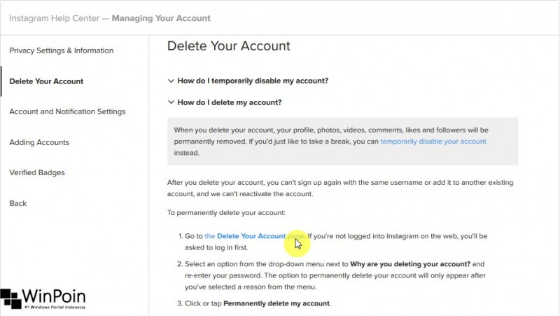 Cara Menghapus Akun Instagram Secara Permanen (3)