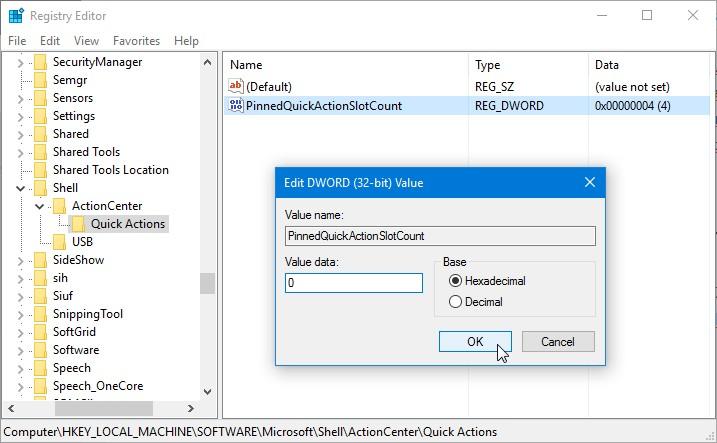 Cara Menghilangkan Quick Action dari Action Center Windows 10 (1)
