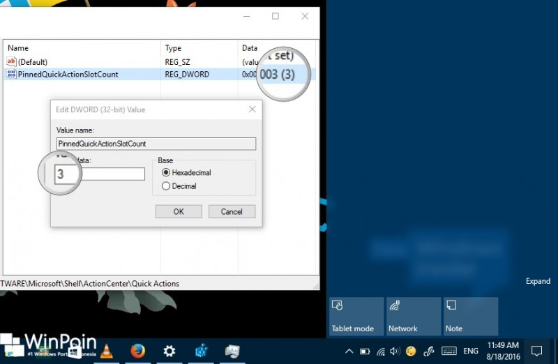 Cara Menghilangkan Quick Action dari Action Center Windows 10 (3)