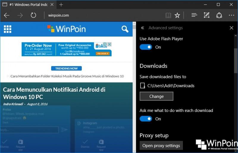 Fitur-fitur Baru pada Microsoft Edge di Windows 10 Anniversary UpdateFitur-fitur Baru pada Microsoft Edge di Windows 10 Anniversary Update (5)