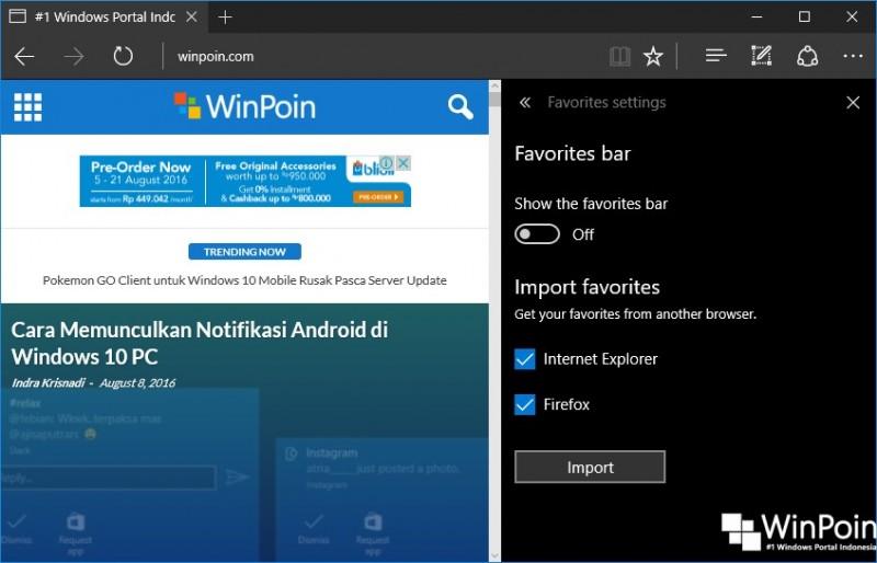Fitur-fitur Baru pada Microsoft Edge di Windows 10 Anniversary UpdateFitur-fitur Baru pada Microsoft Edge di Windows 10 Anniversary Update (6)