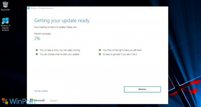 Cara Upgrade ke Windows 10 Anniversary Update via Upgrade Assistant