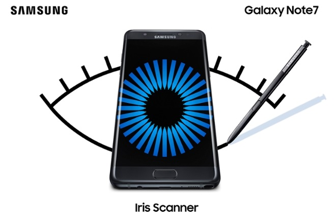 Iris Scanner Galaxy Note 7