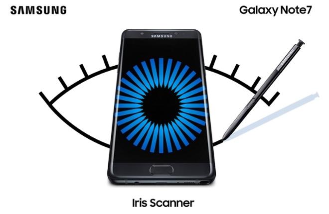 Iris Scanner Galaxy Note 7