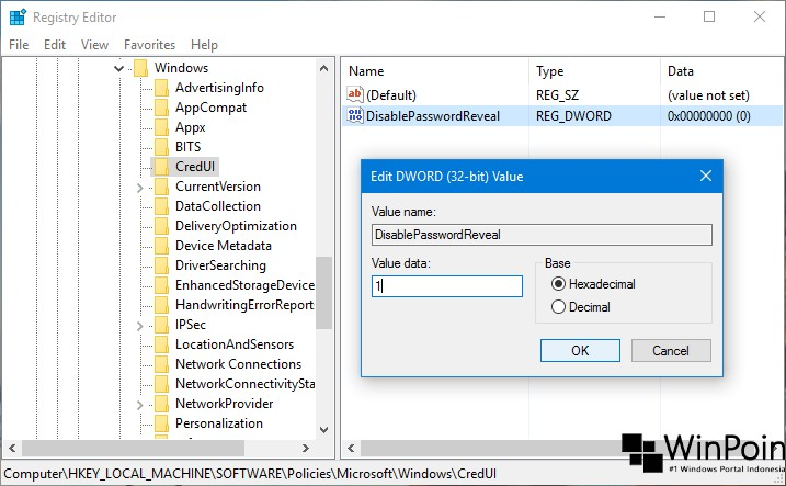 Trik Menghilangkan Password View pada Layar Login Windows 10 (3)