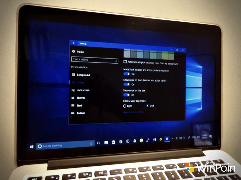 Cara Menggunakan Dark Theme di Windows 10 Anniversary Update