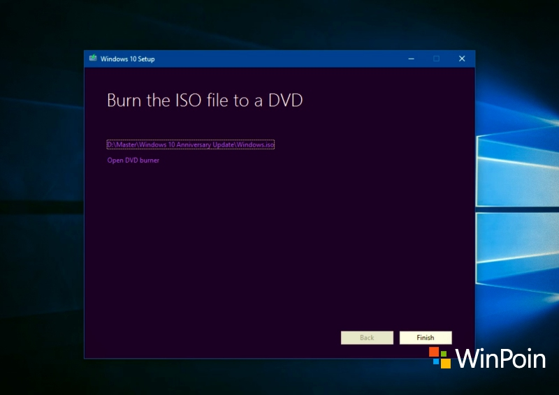 Cara Download File ISO Windows 10 Anniversary Update via Media Creation Tool