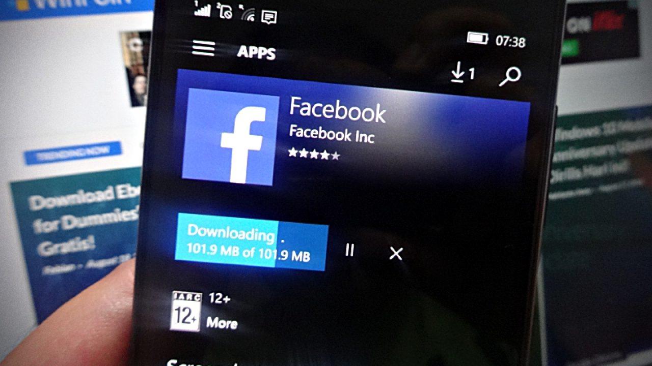 Facebook Windows 10 Mobile Membutuhkan RAM 2GB? | WinPoin