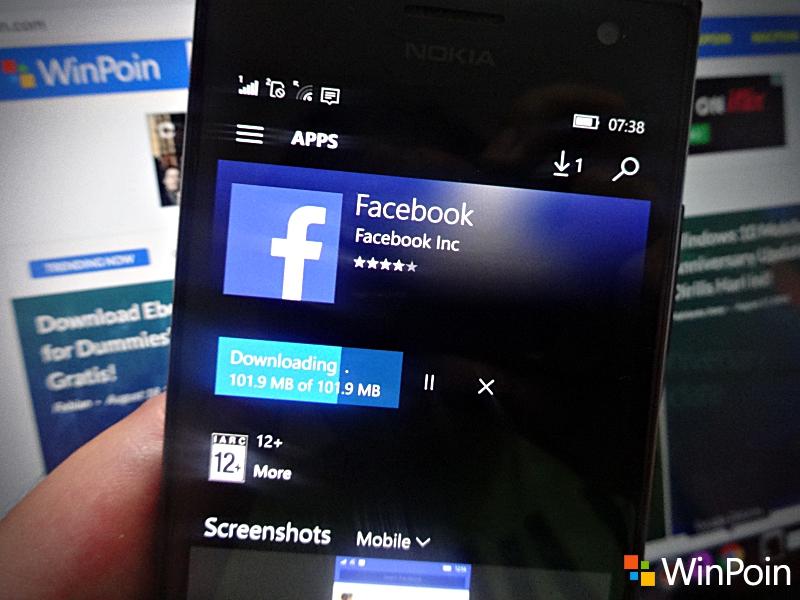 Facebook untuk Windows 10 Mobile Akhirnya Dirilis Global, Ayo Download!
