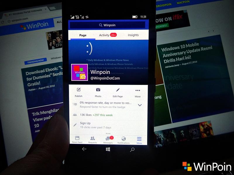 Facebook untuk Windows 10 Mobile: Buatan Microsoft vs Buatan Facebook