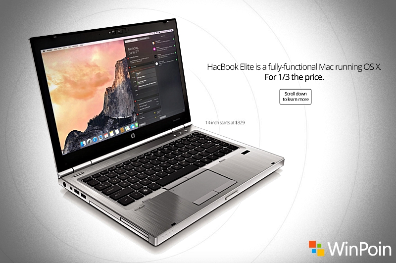 HacBook Elite: Laptop Hackintosh Seharga 4.3 Jutaan