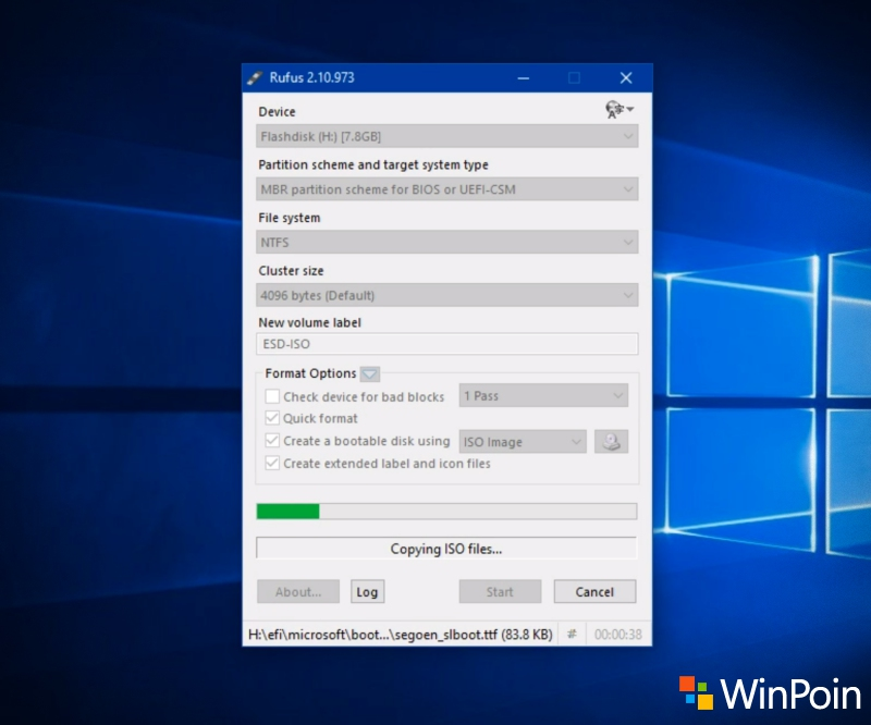 Cara Membuat Bootable USB Flashdisk Windows 10 dengan Rufus