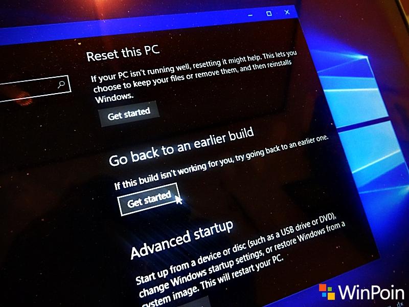 Cara Rollback dari Windows 10 Anniversary Update Jika Bermasalah
