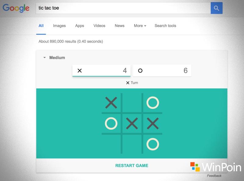 Sekarang Kamu Bisa Main Solitaire & Tic-Tac-Toe di Google Search