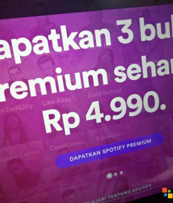 Segera berlangganan Spotify Premium, Lagi Murah!