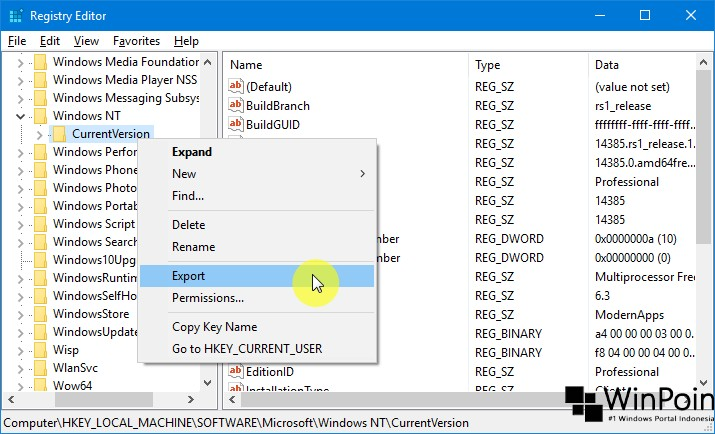 Cara Export Registry Editor di Windows 10 (2)