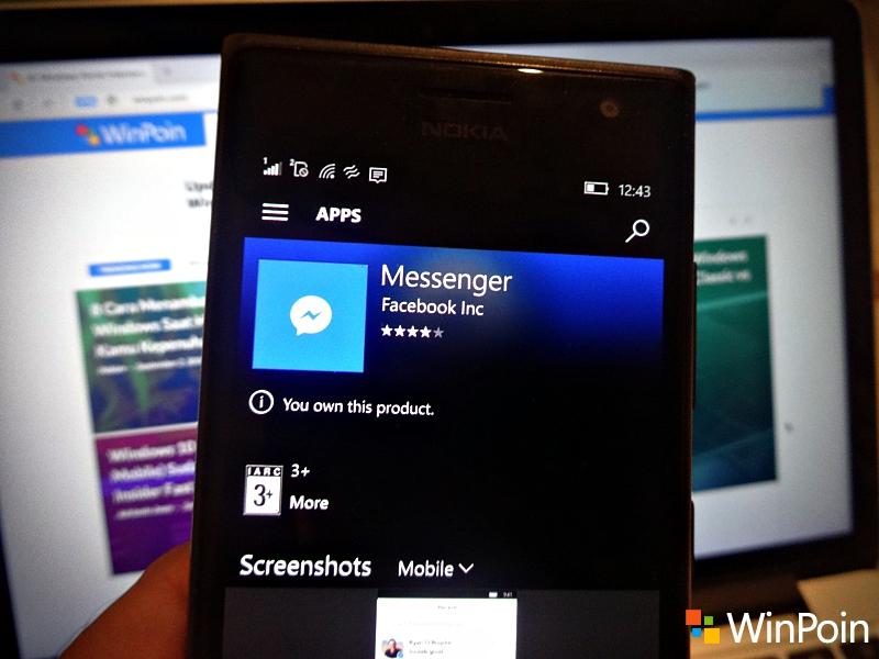Facebook Messenger Hilang dari Windows 10 Store