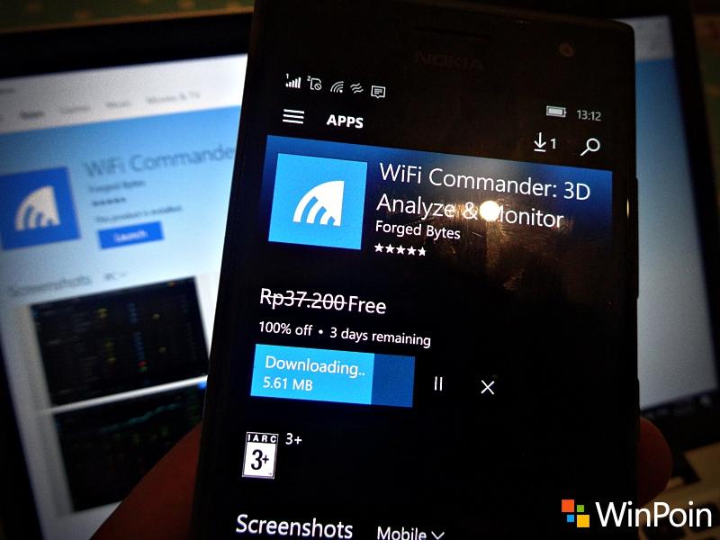 "HOT: Aplikasi ""WiFi Commander: 3D Analyze & Monitor"" Sedang Gratis!"
