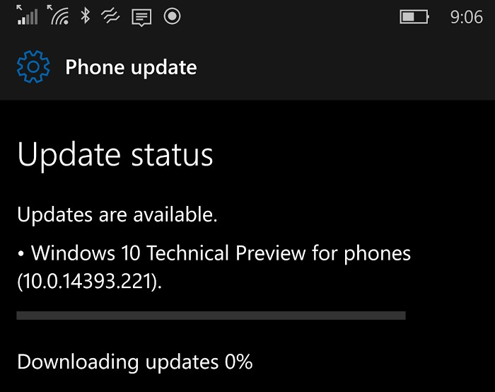 Windows 10 Mobile Build 14394.221 Dirilis untuk Insider