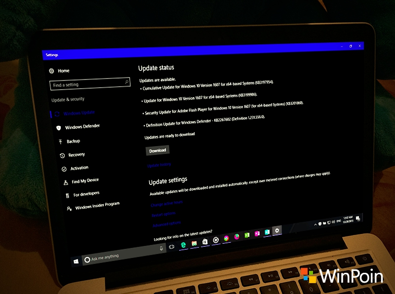 Kumulatif Update Windows 10 PC Build 14393.351 Dirilis ke Publik (Non-Insider)