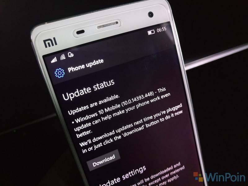 Windows 10 Mobile Build 14393.448 Sudah Tersedia untuk Publik
