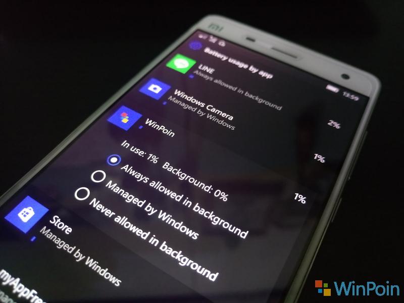 Menghemat Baterai Windows 10 Mobile - Tips #1