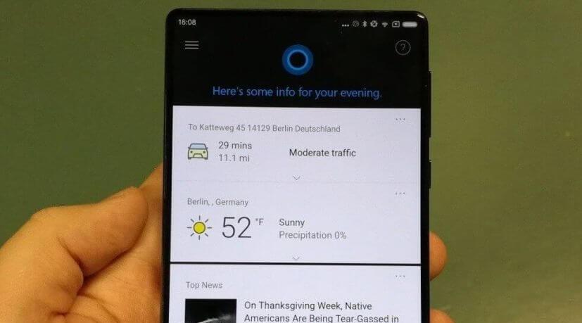 Ternyata Xiaomi Mi Mix Sudah Terinstall Aplikasi Microsoft Cortana