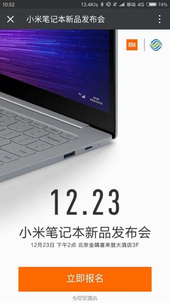 23 Desember, Xiaomi akan Merilis Mi Notebook Air Baru!