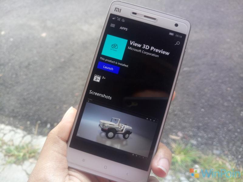 Secara Diam-Diam, Microsoft Sudah Merilis View 3D Preview ke Windows 10 Mobile