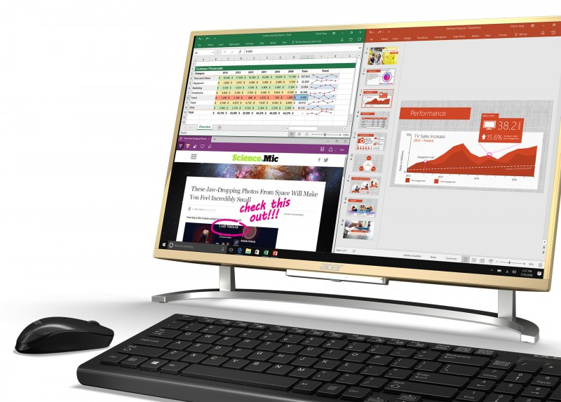 Aspire C: AIO (All-in-One) PC Terbaru dari Acer