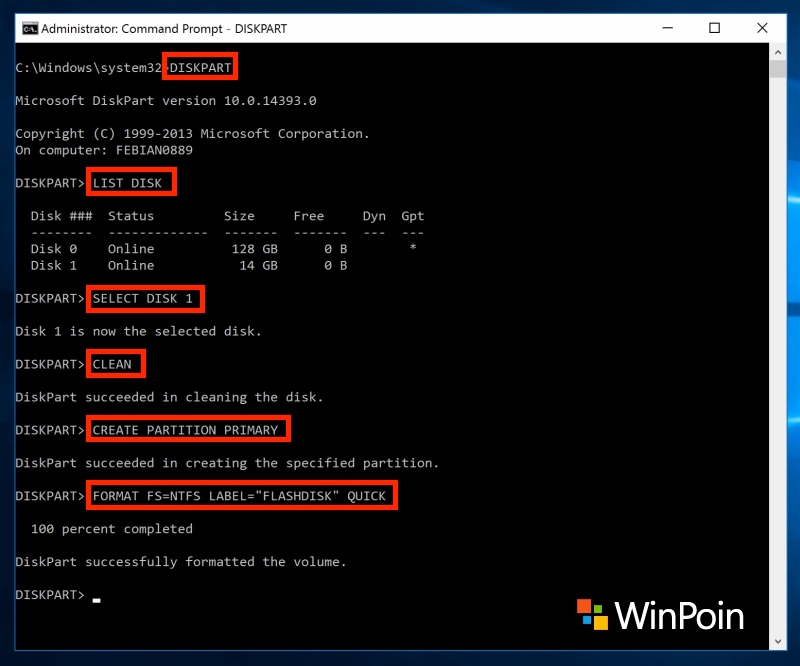 Cara Format Flashdisk ke NTFS